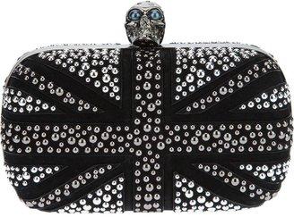 Alexander McQueen 'Britannia Skull' box clutch