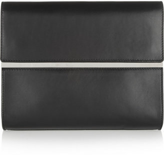 Maison Martin Margiela Leather and mirrored-metal clutch