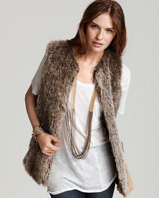 """French Connection Fancy"""" Faux Fur Vest"""