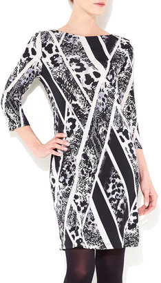 Wallis Black Petite Snake Print Dress