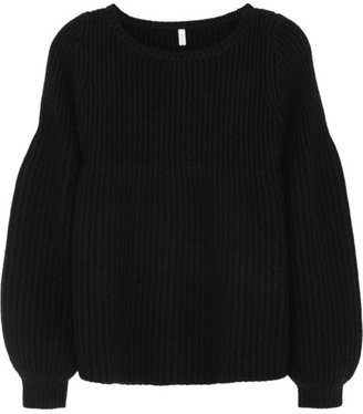Faith Connexion Ribbed merino wool-blend sweater
