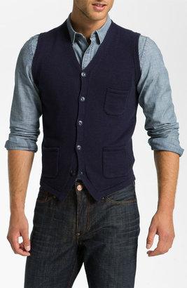 Façonnable Denim Cotton & Cashmere Sweater Vest