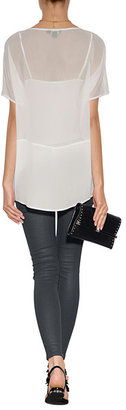 DKNY Silk Top in Ivory