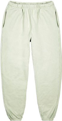 LES TIEN Off White Cotton-jersey Sweatpants
