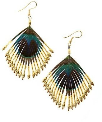 Urban Outfitters Peacock Lure Earrings