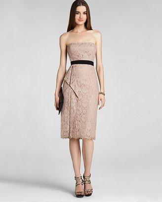 BCBGMAXAZRIA Lace Dress - Strapless