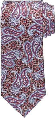 Jos. A. Bank Signature Gold Tossed Paisley on Medallion Long Tie