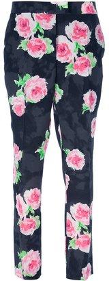 Moschino Cheap & Chic flower print straight leg trouser