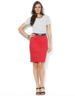 Lauren Ralph Lauren Short-Sleeved Striped Cotton Crewneck Tee