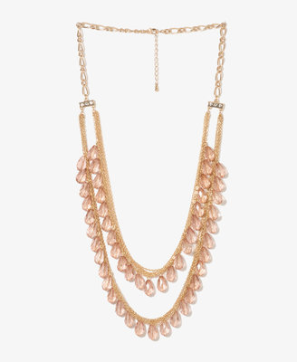 Forever 21 Teardrop Swag Necklace