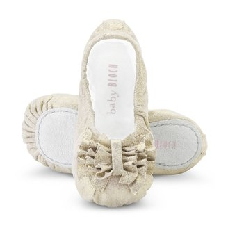 Bloch Shoes - Baby Girl's Raphaela Metallic Leather Ballet Flats - Champagne