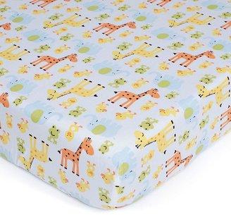 Carter's easy-fit safari crib sheet