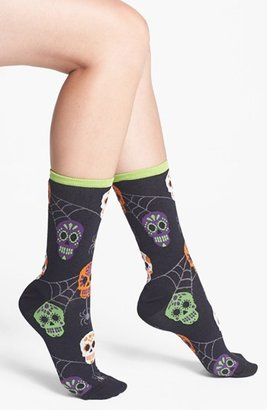 Hot Sox 'Skulls & Spiders' Crew Socks (3 for $15)