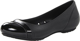 crocs Women's Cap Toe Flat $22 thestylecure.com