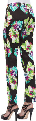 Lafayette 148 New York Printed Straight-Leg Pants