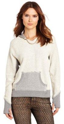 True Religion Women's Raw Edge Embroidered Pullover