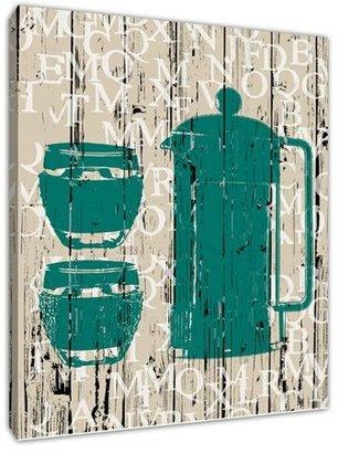 Green Leaf Art 'Morning Coffee' Wall Art, Large