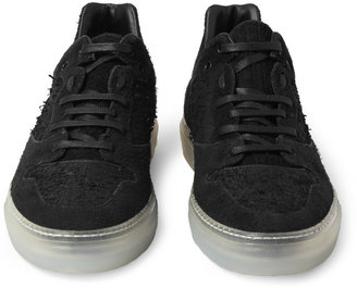 Balenciaga Distressed Leather and Suede Sneakers