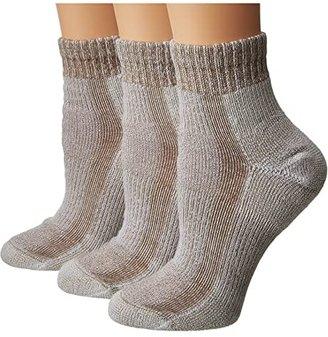 Thorlos Light Hiking Mini Crew 3-PK (Khaki Heather) Women's Crew Cut Socks Shoes