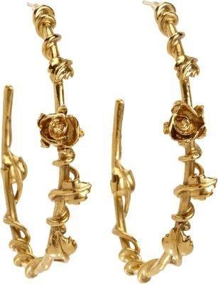 Aurelie Bidermann Gold Majorelle Gardens Hoop Earrings