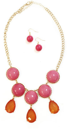 Pink/Orange Statement Necklace