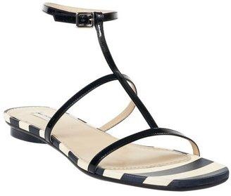 Marc Jacobs Striped Flat Sandals