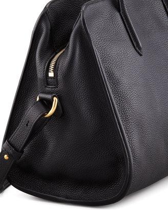 Alexander McQueen Padlock Zip-Around Tote Bag, Black