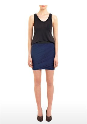 Alexander Wang Marled Jersey Ruched Twist Skirt