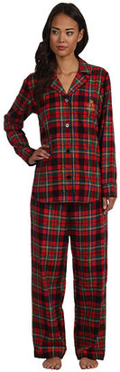 Lauren Ralph Lauren LAUREN by Ralph Lauren Town and Country L/S Classic Notch Collar PJ Set