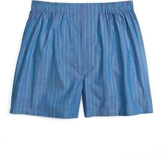 Brooks Brothers Traditional Fit Blue and Green Ground Stripe Boxers