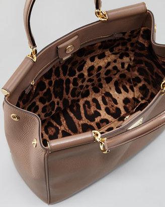 Dolce & Gabbana Miss Sicily Bar-Top Shopper Bag, Taupe