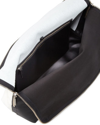 3.1 Phillip Lim Hour Fold-Over Tote Bag, Black/White