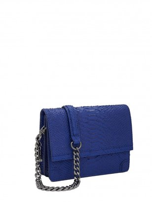 Alice + Olivia Clee Side Snake Embossed Leather Crossbody
