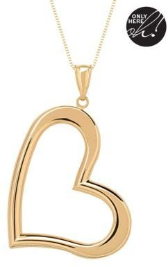 Lord & Taylor Heart Pendant in 14 Kt. Yellow Gold