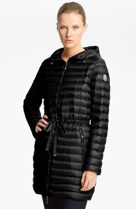 Moncler 'Aure' Hooded Long Down Jacket