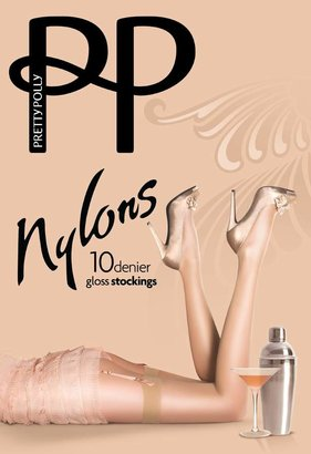 Pretty Polly Women's Nylons Gloss Stockings 10 DEN Tights