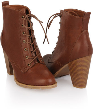 Forever 21 Workman Lace-Up Bootie