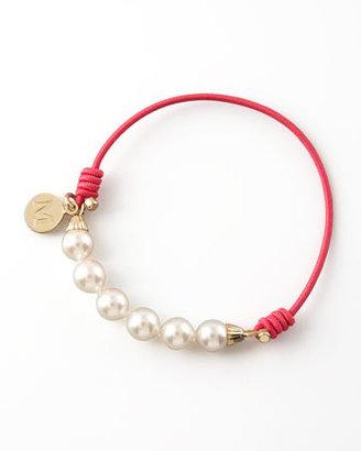 Majorica Elastic Pearl Bracelet, Fuchsia