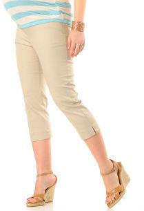 Motherhood Secret Fit Belly® Twill Back Pockets Slim Leg Maternity Capri Pants