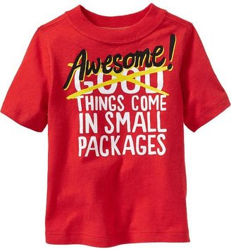 "Old Navy ""Awesome Things Come In Small Packages"" Tees for Baby"