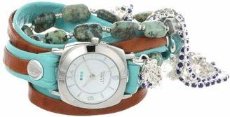La Mer Women's LMMULTI2002 Austin Crystal Stones Wrap Watch