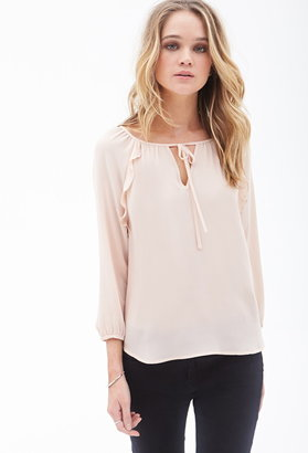 Forever 21 Ruffled Woven Top