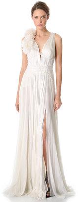 J. Mendel Sleeveless Pleated Gown