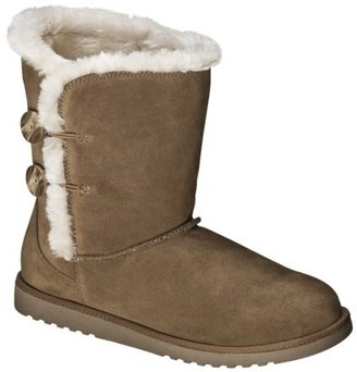Xhilaration Women's Kamar Genuine Suede Shearling Style Boots - Assorted Colors