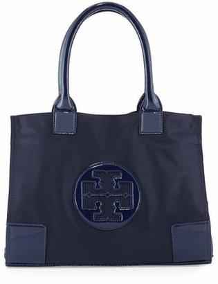 Tory Burch Ella Mini Nylon Tote Bag, French Navy $175 thestylecure.com