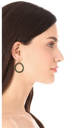 Chan Luu Malachite Hoop Earrings