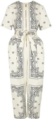 Tory Burch Printed Cotton Jumpsuit