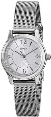 Timex Women's T2P4579J Main Street Modern Minis Silver-Tone Watch $32.76 thestylecure.com