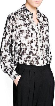 MANGO Outlet Mixed Print Shirt