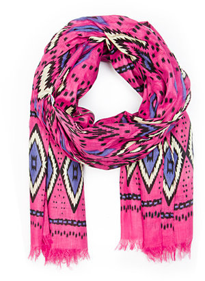 MANGO Ethnic print cotton foulard